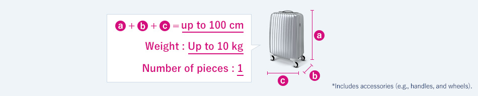 Permitted Carry-on Baggage Size